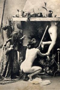1910 Witches Sabbat Postcard